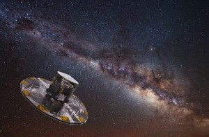 Artist's impression of Gaia mapping the stars of the Milky Way. Credit: ESA/ATG medialab/ESO/S. Brunier