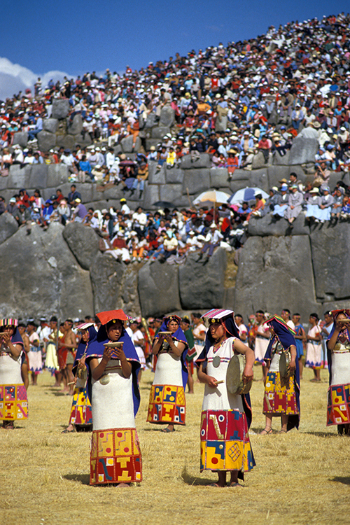 The Inca Indians ruled the largest empire in the New World. The most magnificent of their religious ceremonies—the Festival of the Sun—is reenacted at an Inca fortress in Peru, shown here. Credit: © M. Timothy O'Keefe, Alamy Images